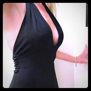Laundry, sexy plunging neckline, backless dress